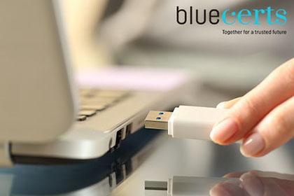 Blue Digital Signature